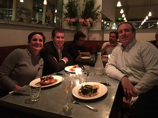 Some of AcheiveIt's executives enjoying dinner at the Chief Strategy Officer Summit.