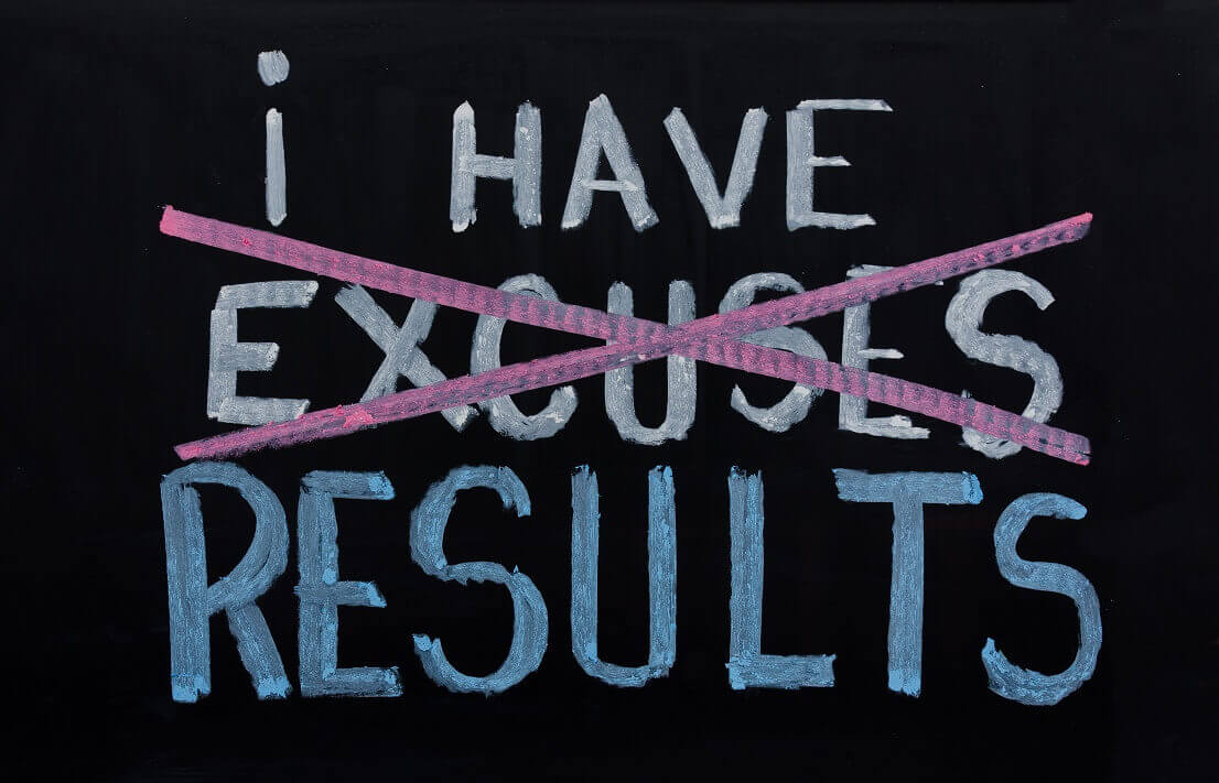 Image result for eliminate excuses