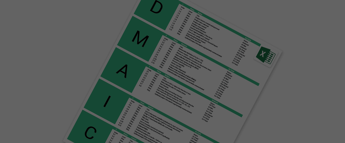 six sigma excel template