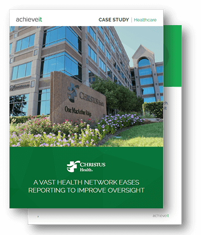 AchieveIt Case Study - A Vast Health Network Gets Help with Healthcare Plan Execution