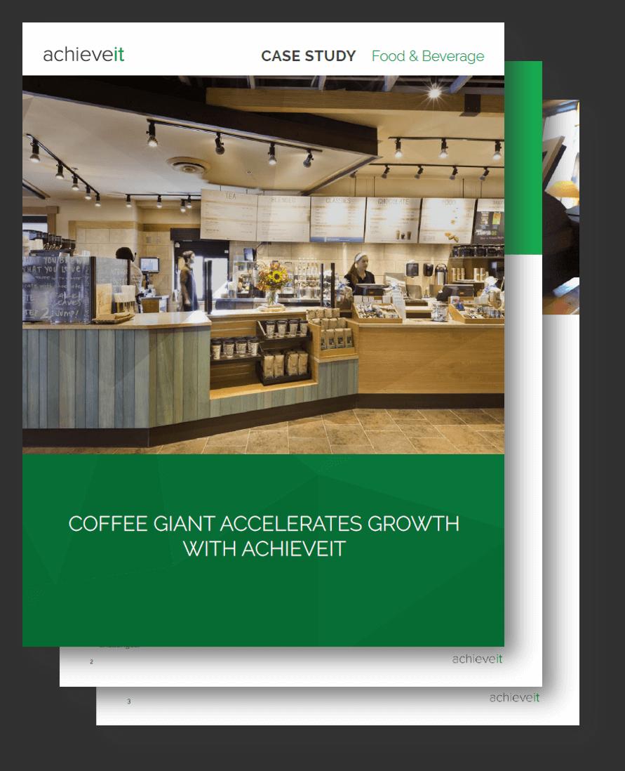 AchieveIt Case Study - Coffee Giant Accelerates Growth Case Study