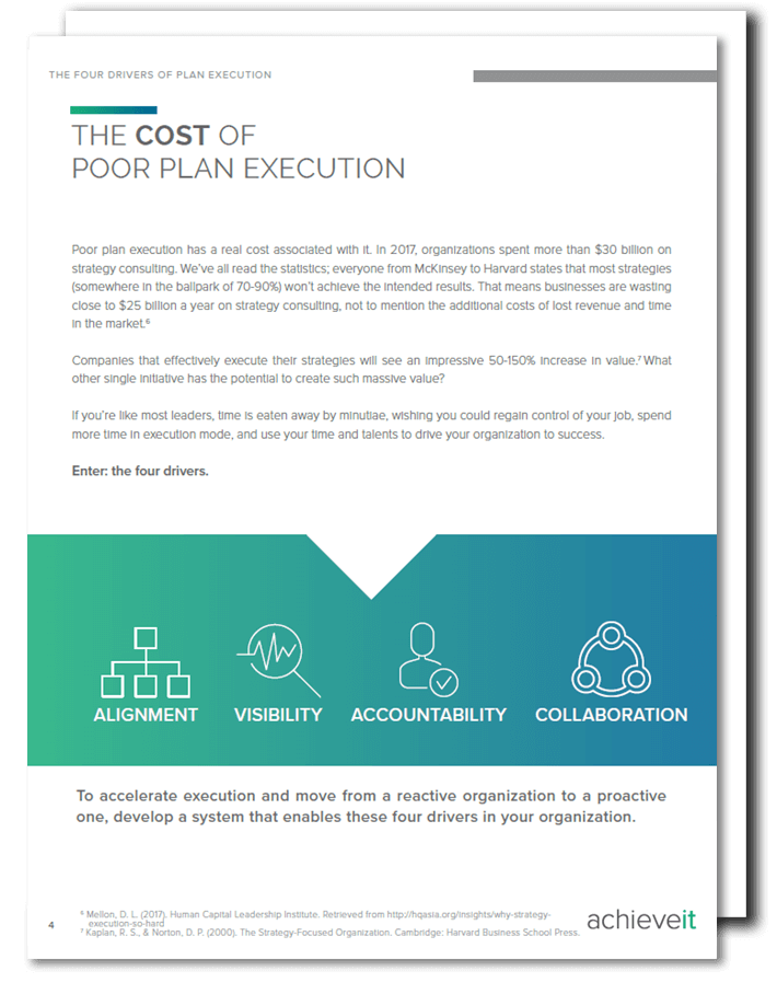 4 Drivers of Plan Execution
