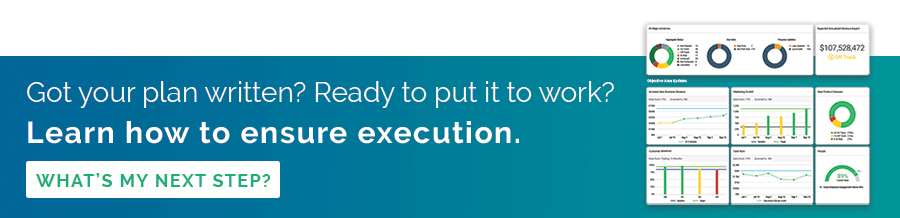 Click to read more about what to do after you've crafted your plan to ensure execution