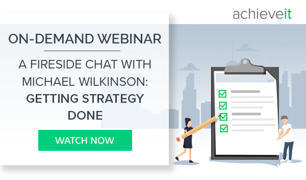 On Demand Webinar: Getting Strategy Done with Michael Wilkinson