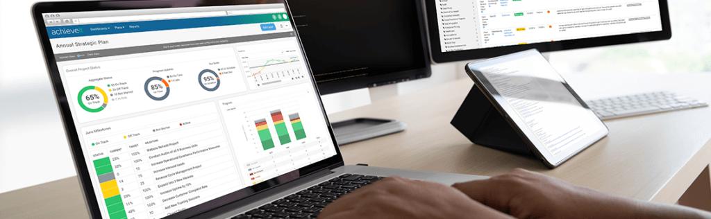 laptop with achieveit dashboard