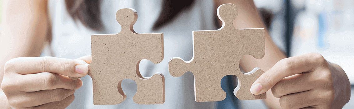 person holding puzzle pieces