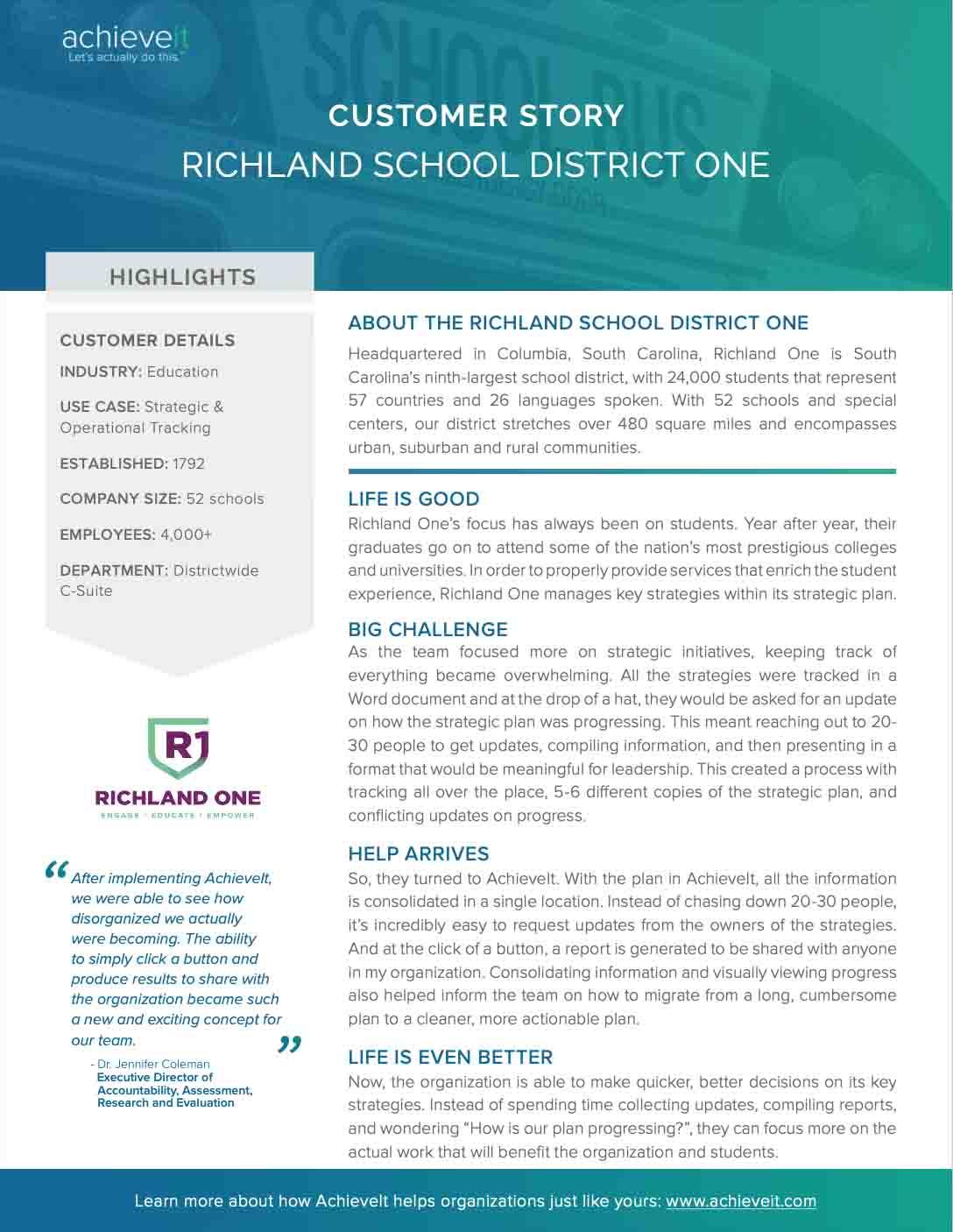 Richland School District One_achieveit