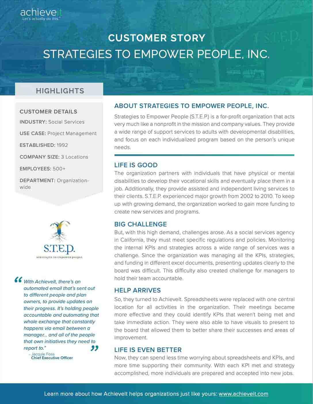 Strategies to Empower People (S.T.E.P)_achieveit