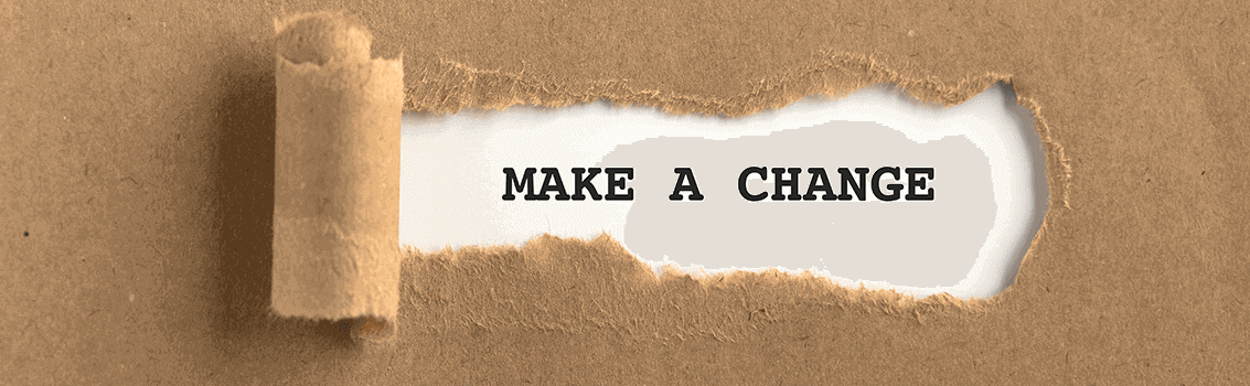 paper ripped to reveal make a change